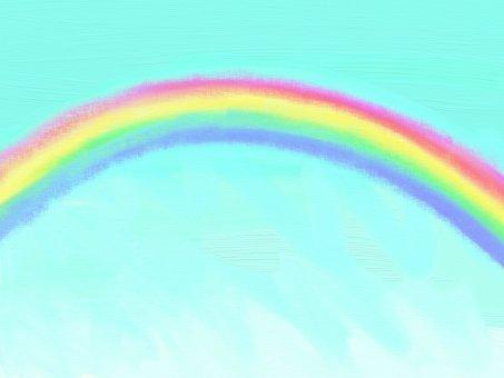 Pastel style rainbow