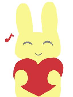 Usagi心臟黃色Ohuna