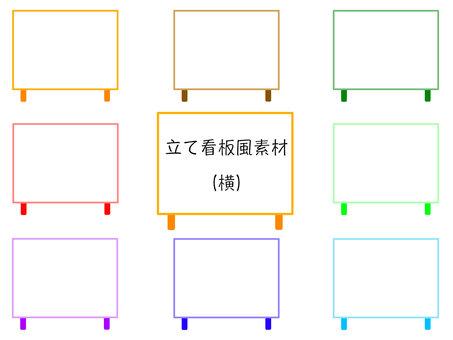 Vertical signboard frame material side