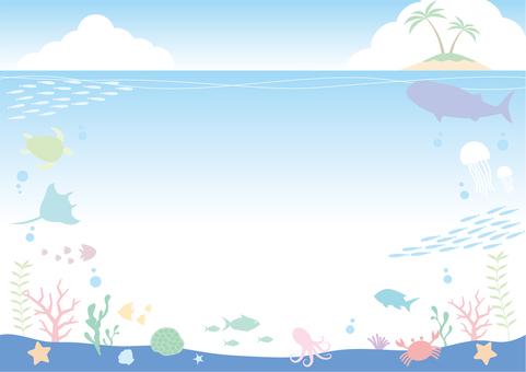 Underwater frame