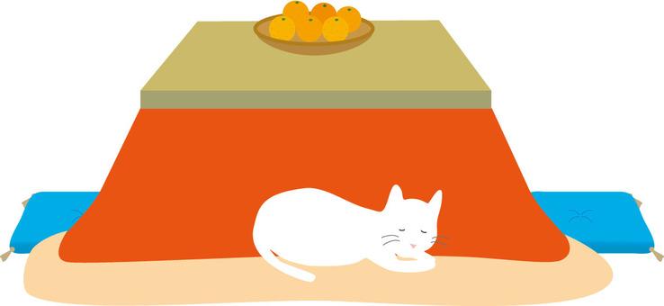 Kotatsu cat cushion