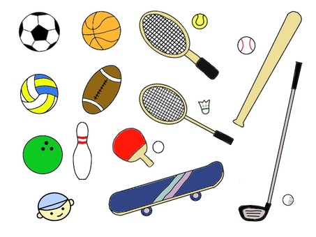 Various sporting goods