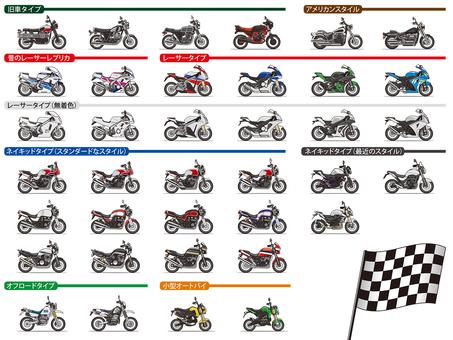 Motorcycle deformation illustration