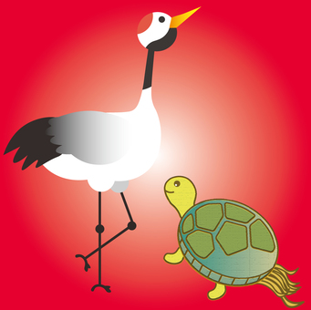 Crane and tortoise