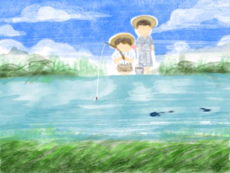 부모 여름 시골