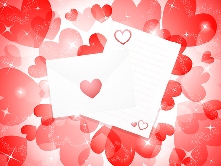 ai with love letter with heart · letter with background