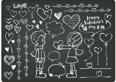 Valentine's Illustration 15 Chalk Art