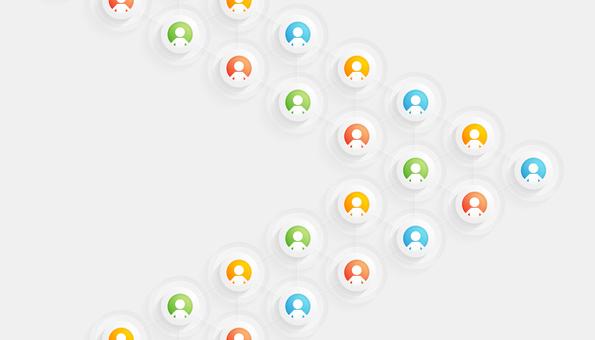 社區網絡箭頭形狀
