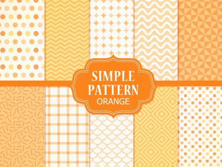 Simple pattern 【Orange】