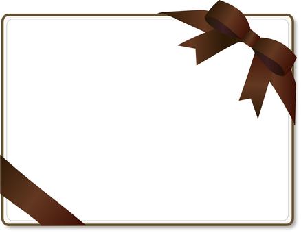 Ribbon card decorative frame tea