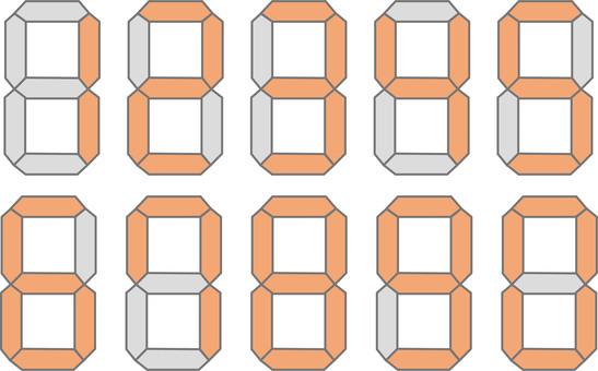 디지털 숫자 패턴 2