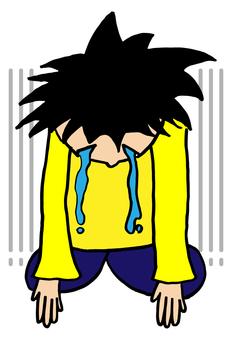 A sad person