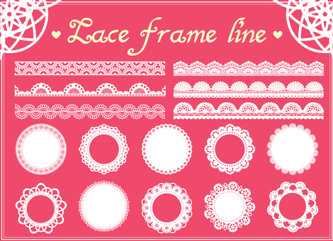 Lace style frame / line
