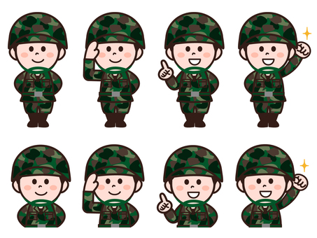 Self Defense Force personnel (male) set