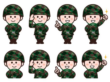 Self Defense Force personnel (male) set