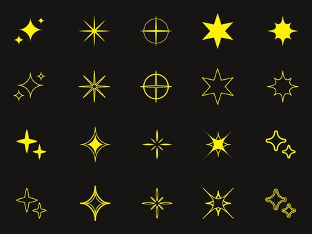Glitter effect set