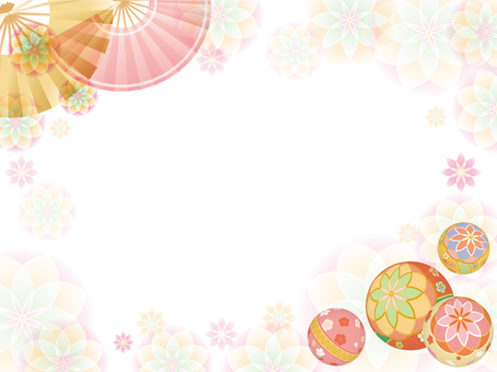 Ball and flower background