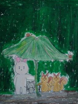 在森林裡的雨