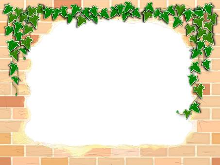 Retro brick and Ivy frame