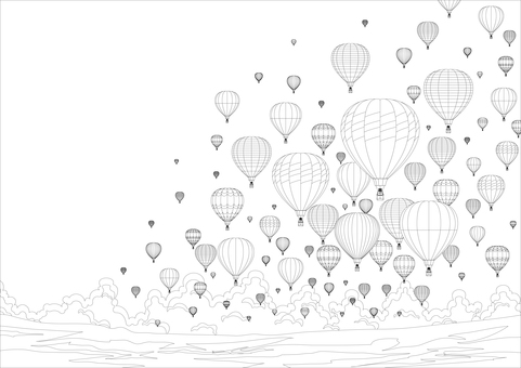 Highland Balloon coloring page