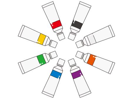 絵の具8色