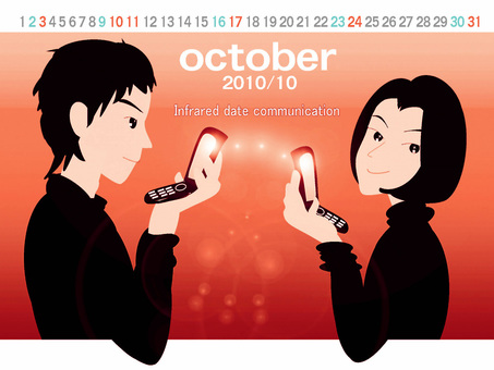 October calendar (infrared communication)