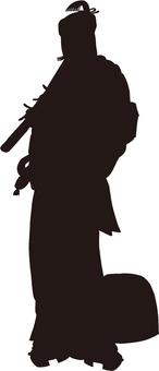 Ukiyo-e character silhouette part 141