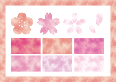 Watercolor pattern (pink)