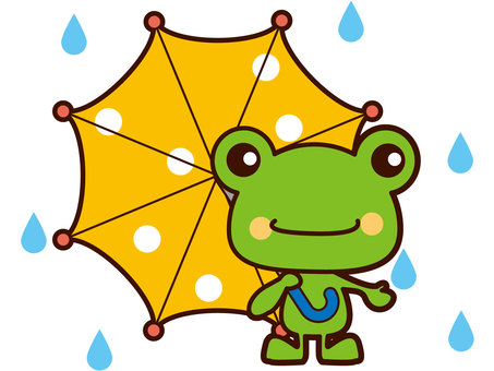 Frog sipping an umbrella