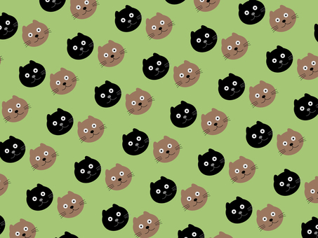 Cute cat pattern material