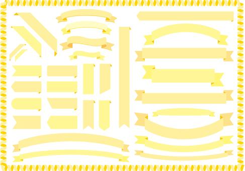 Cream yellow Ribbon Frame frame Ribbon background