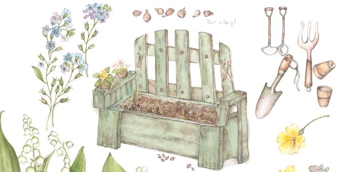 Spring, gardening