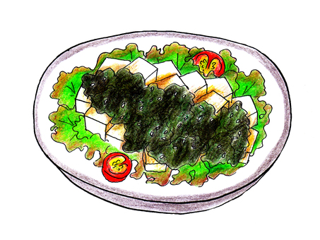 Tofu salad Korean style