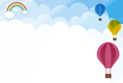 Sky and balloon frame