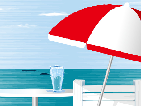 Horizontal line and parasol