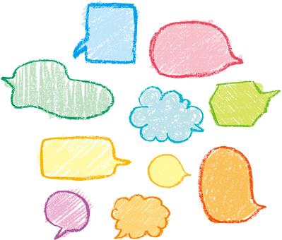 Crayon's speech bubble