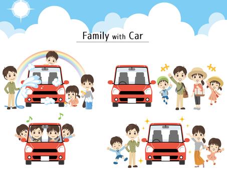 B477_家族と車セット