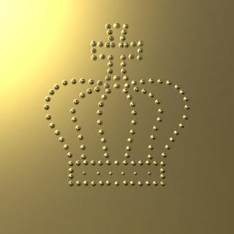 Metal plate of gold crown