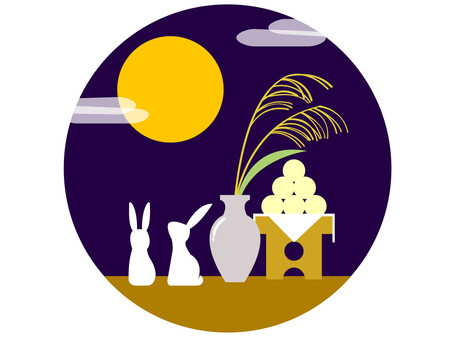 Moon view rabbits