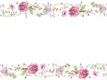 Flower frame 425 Spring pink flower frame