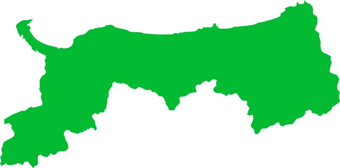Tottori Prefecture _ silhouette _ green