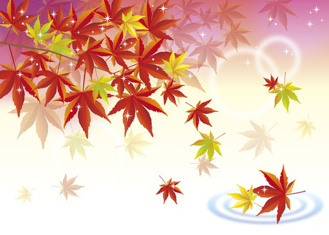 Glittering autumn leaves image