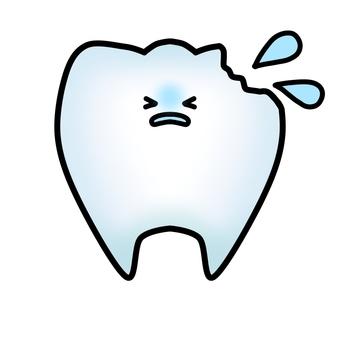 빠진 치아의 캐릭터 (윤곽선 있음)