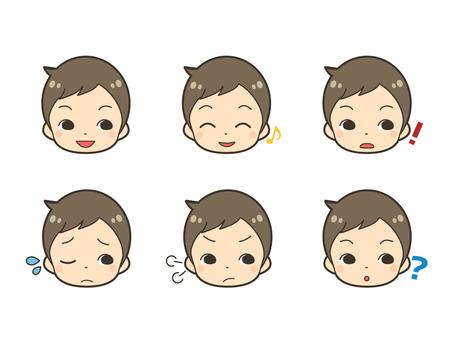 男性イラスト表情セット