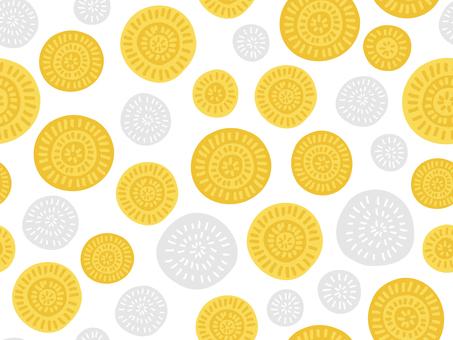 Scandinavian dandelion wallpaper (seamless)