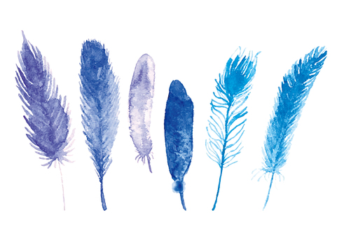 """""""Watercolor Wind"""" Feather"""