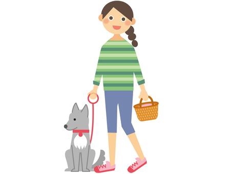 Walking a dog _ 1