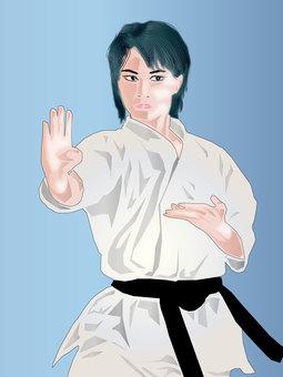 Karate girl 06