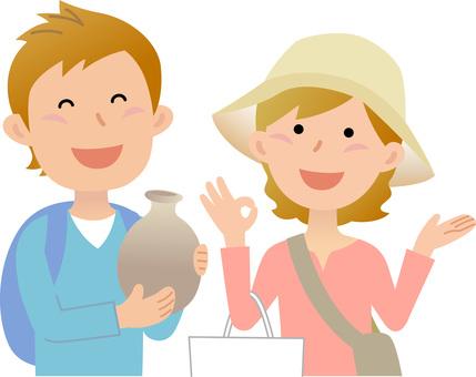 70326. Travelers, shopping