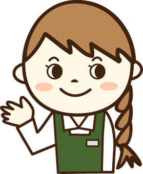 Clerk of green apron (smile 1)